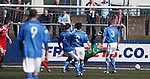 Montrose keeper John Gibson beaten as Mark Perry scores the opener for Stirling Albion