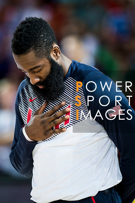 James Harden of United States of America  during FIBA Basketball World Cup 2014 group C between United States of America vs New Zeland  on September 02, 2014 at the Bilbao Arena stadium in Bilbao, Spain. Photo by Nacho Cubero / Power Sport Images