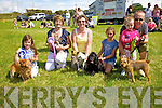 Winners at the Dog Show in Ring of Kerry Equestrian Centre in Carraí Glas on Saturday were l-r; Niamh Fitzgerald - 2nd with Tilly, Catherine McCarthy - Special Prize with Gypsy Joe, Helen O'Sullivan - 3rd with Millie, Laura O'Sullivan - 1st with Charley, Leah Stout & Mick Sheehy - Special Prize with Lola.
