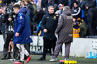 Leeds United manager Marcelo Bielsa consoles Hull City manager Grant McCann after the match<br /> <br /> Photographer Alex Dodd/CameraSport<br /> <br /> The EFL Sky Bet Championship - Hull City v Leeds United - Saturday 29th February 2020 - KCOM Stadium - Hull<br /> <br /> World Copyright © 2020 CameraSport. All rights reserved. 43 Linden Ave. Countesthorpe. Leicester. England. LE8 5PG - Tel: +44 (0) 116 277 4147 - admin@camerasport.com - www.camerasport.com