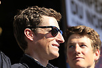 Martin Elmiger (SUI) BMC Racing Team at the Team Presentation for the upcoming 115th edition of the Paris-Roubaix 2017 race held in Compiegne, France. 8th April 2017.<br /> Picture: Eoin Clarke | Cyclefile<br /> <br /> <br /> All photos usage must carry mandatory copyright credit (&copy; Cyclefile | Eoin Clarke)