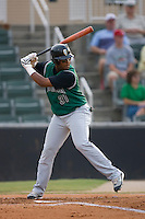 Angel Villalona (31) of the Augusta GreenJackets at bat at Fieldcrest Cannon Stadium in Kannapolis, NC, Wednesday August 21, 2008. (Photo by Brian Westerholt / Four Seam Images)