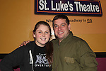 "castmember Craig Colasanti poses with his daughter at 7th Anniversary of Layon Gray's ""Black Angels Over Tuskegee"" - Straighten Up Fly Right - cast -  on February 10, 2017 at St. Luke's Theatre, New York City, New York. (Photo by Sue Coflin/Max Photos)"