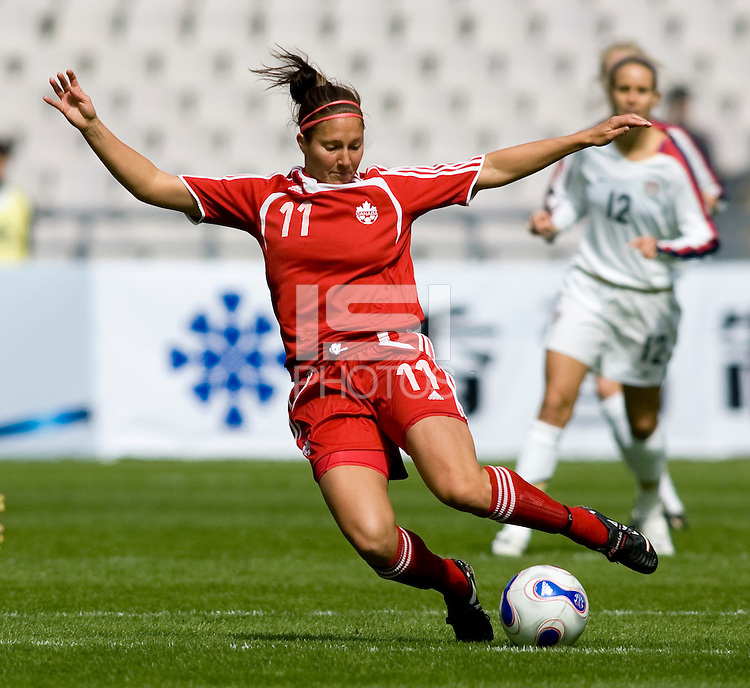 Randee Hermus. The U.S. defeated Canada, 4-0, during the Four Nations Tournament in Guangzhou, China on January 16, 2008.