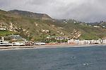 Paddlers off Malibu Pier