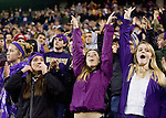 Washington Huskies fans celebrate after kicker Travis Coons kicks a 30-yard game winning field goal against Oregon State Beavers at CenturyLink Field in Seattle, Washington on October 27, 2012.  The Huskies upset the 7th ranked Beavers 20-17.  ©2012.  Jim Bryant Photo. ALL RIGHTS RESERVED.