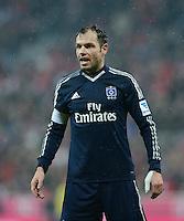 FUSSBALL   1. BUNDESLIGA  SAISON 2012/2013   27. Spieltag   FC Bayern Muenchen - Hamburger SV    30.03.2013 Enttaeuschung; Heiko Westermann (Hamburger SV)