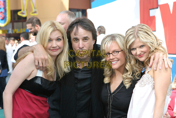 SUSAN YEAGLEY, KEVIN NEALON, RACHAEL HARRIS & ARDEN MYRIN.Evan Almighty Premiere held at the  Gibson Amphitheatre & Citywalk Cinemas, Universal City, California, USA..June 10th, 2007.half length red black white funny face arm over shoulder glasses .CAP/ADM/CH.©Charles Harris/AdMedia/Capital Pictures
