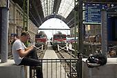Keleti Pu (Eastern Railway Station), Budapest.
