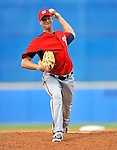 28 February 2011: Washington Nationals' pitcher Doug Slaten in action during a Spring Training game against the New York Mets at Digital Domain Park in Port St. Lucie, Florida. The Nationals defeated the Mets 9-3 in Grapefruit League action. Mandatory Credit: Ed Wolfstein Photo