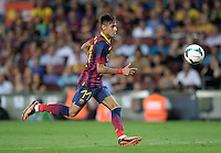 FUSSBALL  INTERNATIONAL   SAISON 2011/2012   02.08.2013 Gamper Cup 2013 FC Barcelona - FC Santos Neymar (Barca) am Ball