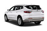 Car pictures of rear three quarter view of a 2018 Buick Enclave Premium 5 Door SUV angular rear