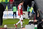 Nederland, Alkmaar, 25 november  2012.Eredivisie.Seizoen 2012-2013.AZ-Feyenoord.Dirk Marcellis van AZ verlaat met een rode kaart het veld