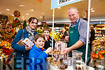 Sampling some treats from George Mcgee (The Castle Pantry) at the Garvey's SuperValu Christmas Food and Wine Fair on Thursday were Melissa, Conor and Jack Nolan.