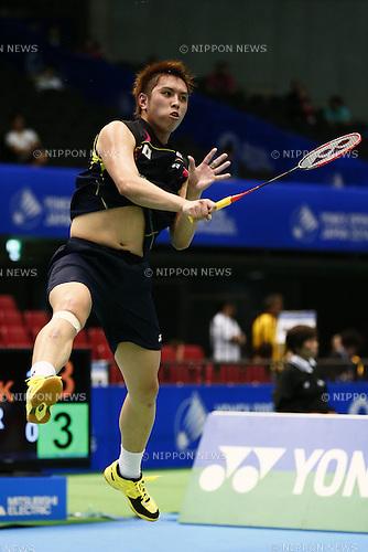 Kenichi Tago (JPN), <br /> June 11, 2014 - Badminton : <br /> Yonex Open Japan 2014 <br /> Men's Singles <br /> at Tokyo Metropolitan Gymnasium, Tokyo, Japan. <br /> (Photo by SHINGO ITO/AFLO SPORT) [1195]