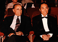 August 28 1995 File Photo - Zhang Yimou honored at Montreal World Film Festival in Montreal, Canada<br /> <br /> <br /> Zhang Yìmou;  (born November 14, 1951) is an internationally acclaimed Chinese filmmaker and one-time cinematographer. He made his directorial debut in 1987 with the film Red Sorghum.