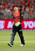 3rd February 2019, Optus Stadium, Perth, Australia; Australian Big Bash Cricket League, Perth Scorchers versus Melbourne Stars; Cameron Bancroft of the Perth Scorchers