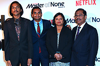 www.acepixs.com<br /> <br /> May 11 2017, New York City<br /> <br /> Comedian Aziz Ansari (2nd L) and his family arriving at the premiere of  'Master Of None' Season 2 premiere at SVA Theatre on May 11, 2017 in New York City.<br /> <br /> By Line: Nancy Rivera/ACE Pictures<br /> <br /> <br /> ACE Pictures Inc<br /> Tel: 6467670430<br /> Email: info@acepixs.com<br /> www.acepixs.com