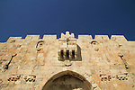 Israel, Jerusalem Old City, figures of panthers on Lions' Gate