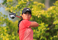 Danielle Kang (USA) in action on the 3rd during Round 3 of the HSBC Womens Champions 2018 at Sentosa Golf Club on the Saturday 3rd March 2018.<br /> Picture:  Thos Caffrey / www.golffile.ie<br /> <br /> All photo usage must carry mandatory copyright credit (&copy; Golffile   Thos Caffrey)