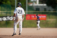 24 May 2009: Yann Dal Zotto of Savigny stands at second base during the 2009 challenge de France, a tournament with the best French baseball teams - all eight elite league clubs - to determine a spot in the European Cup next year, at Montpellier, France. Rouen wins 7-5 over Savigny.