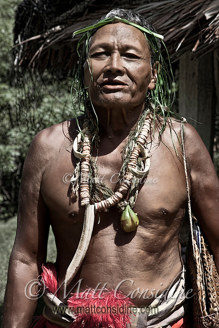 This local village chief is over 70 years old and is still fit and active.  He does not drink or smoke, but chews betel as is traditional on the island, Yap Micronesia. (Photo by Matt Considine - Images of Asia Collection)