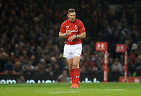 Wales' George North during the game <br /> <br /> Photographer Ian Cook/CameraSport<br /> <br /> Under Armour Series Autumn Internationals - Wales v Scotland - Saturday 3rd November 2018 - Principality Stadium - Cardiff<br /> <br /> World Copyright &copy; 2018 CameraSport. All rights reserved. 43 Linden Ave. Countesthorpe. Leicester. England. LE8 5PG - Tel: +44 (0) 116 277 4147 - admin@camerasport.com - www.camerasport.com