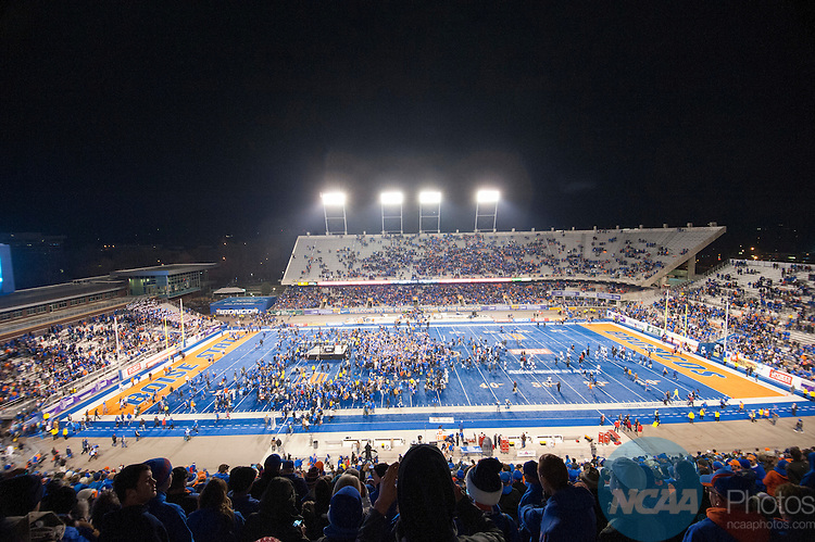 2014 DEC 6: The Boise State Broncos take on the Fresno State Bulldogs during the Mountain West Football Championship held at Albertsons Stadium in Boise, ID. Boise State defeated Fresno State 28-14 to claim the championship title. Photo: Chris Steppig/NCAA Photos
