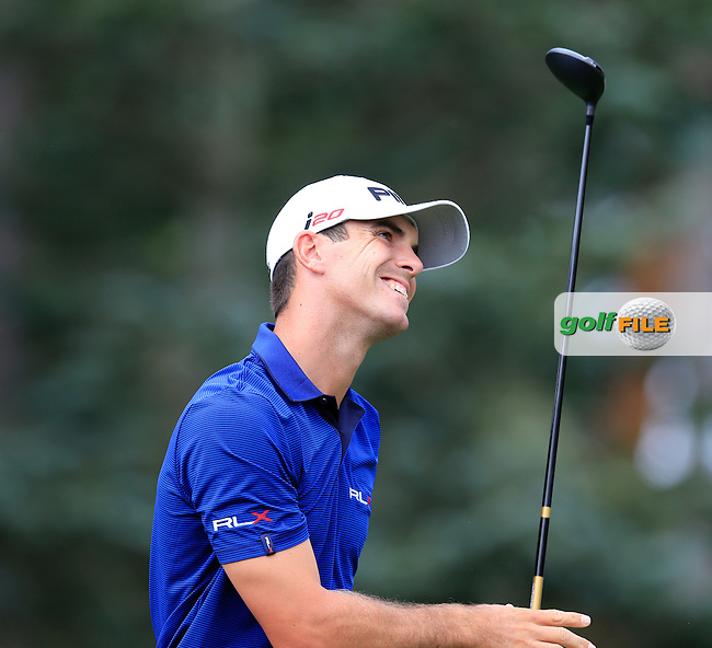 Billy Horschel (USA) tees off the 7th tee during Thursday's Round 1 of the 95th US PGA Championship 2013 held at Oak Hills Country Club, Rochester, New York.<br /> 8th August 2013.<br /> Picture: Eoin Clarke www.golffile.ie