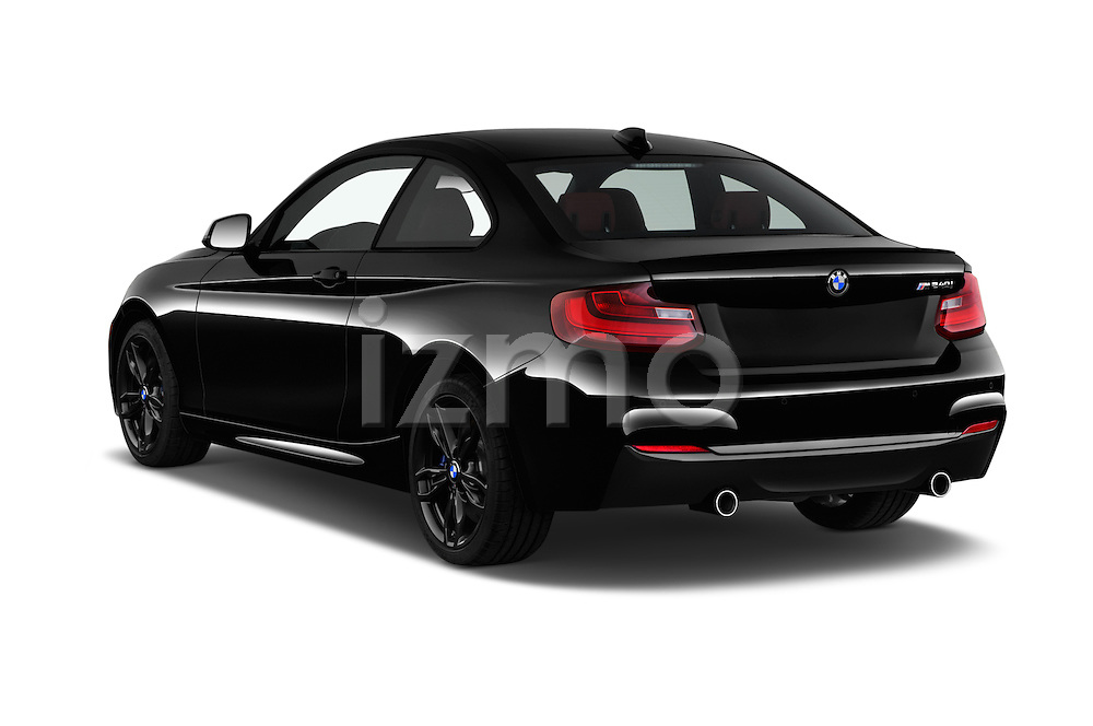 Car pictures of rear three quarter view of 2017 BMW 2-Series M240i 2 Door Coupe Angular Rear
