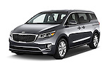 2015 KIA Sedona EX 5 Door Minivan Angular Front stock photos of front three quarter view