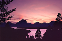 Sunset, Jackson Lake, Grand Teton National Park<br />