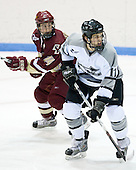 Matt Greene (BC 14), Joe Lavin (Providence 11) - The Boston College Eagles and Providence Friars played to a 2-2 tie on Saturday, March 1, 2008 at Schneider Arena in Providence, Rhode Island.