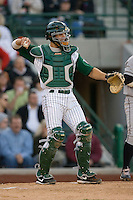 Catcher Adam Zornes #6 of the Fort Wayne Tin Caps on defense versus the Dayton Dragons at Parkview Field April 16, 2009 in Fort Wayne, Indiana. (Photo by Brian Westerholt / Four Seam Images)