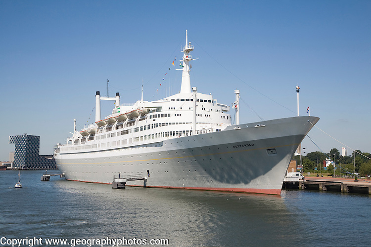 The SS Rotterdam former flagship of the Holland-America line now a hotel and tourist attraction, Rotterdam, Netherlands