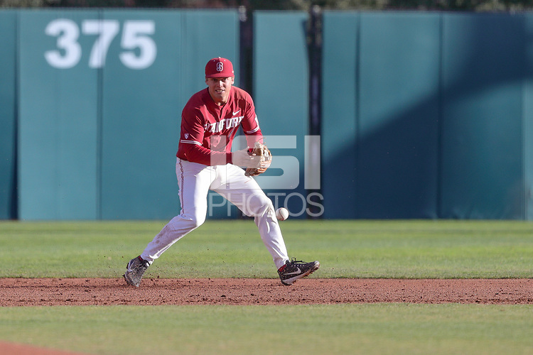 Stanford, CA - March 3, 2018: Stanford Baseball vs Michigan in Game 2 of a 4 game series at Sunken Diamond. Stanford won 3-2.