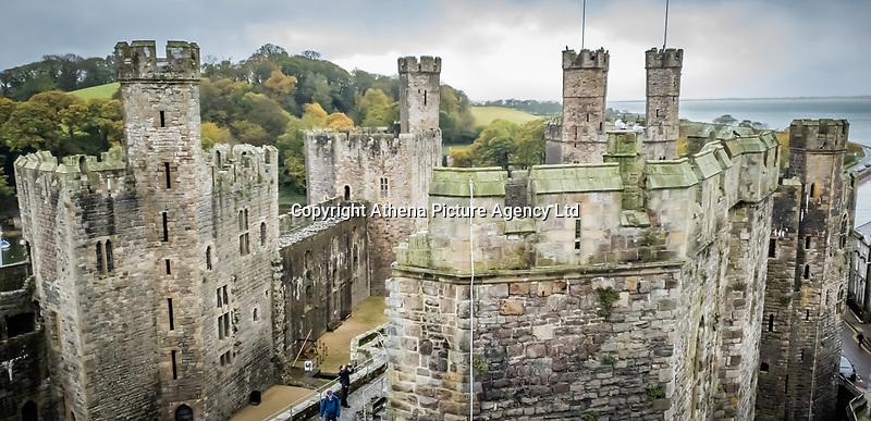 Caernarfon Castle in north Wales, UK. Friday 01 November 2019