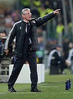 FUSSBALL  CHAMPIONS LEAGUE  VIERTELFINALE  RUECKSPIEL  2012/2013      Juventus Turin - FC Bayern Muenchen        10.04.2013 Engagiert an der Seitenlinie: Trainer Jupp Heynckes (FC Bayern Muenchen)