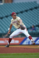 Boston College Eagles relief pitcher Donovan Casey (30) in action against the North Carolina Tar Heels in Game Five of the 2017 ACC Baseball Championship at Louisville Slugger Field on May 25, 2017 in Louisville, Kentucky. The Tar Heels defeated the Eagles 10-0 in a game called after 7 innings by the Mercy Rule. (Brian Westerholt/Four Seam Images)