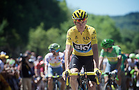 Chris Froome (GBR/SKY) lining up for the start<br /> <br /> stage 16: Morain-en-Montagne to Bern (SUI) / 209km<br /> 103rd Tour de France 2016