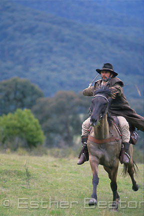 """A """"Mountain Cattleman"""" (stockman of the high country). Snowy Mountains, Victoria"""