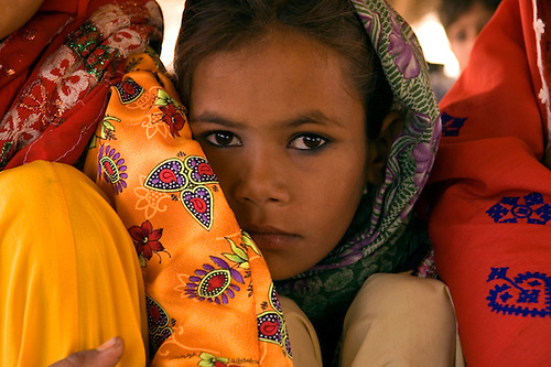 Portrait of a young girl in Pakistan.