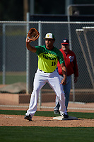 Michael Brown III during the Under Armour All-America Pre-Season Tournament, powered by Baseball Factory, on January 19, 2019 at Fitch Park in Mesa, Arizona.  Michael Brown III is a first baseman / outfielder from Vacaville, California who attends Vacaville High School.  (Mike Janes/Four Seam Images)