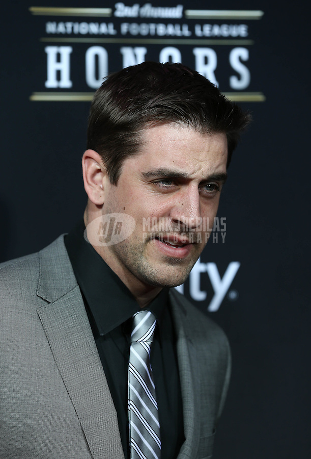 Feb. 2, 2013; New Orleans, LA, USA: Green Bay Packers quarterback Aaron Rodgers walks the red carpet prior to the Super Bowl XLVII NFL Honors award show at Mahalia Jackson Theater. Mandatory Credit: Mark J. Rebilas-USA TODAY Sports