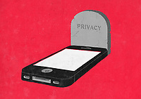 Smart phone as grave with 'Privacy' on headstone ExclusiveImage