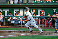 Alejo Lopez (5) of the Billings Mustangs at bat against the Ogden Raptors in Pioneer League action at Lindquist Field on August 12, 2016 in Ogden, Utah. Billings defeated Ogden 7-6. (Stephen Smith/Four Seam Images)