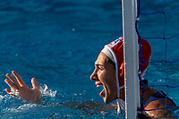 1 DIAMANTOPOULOU Chrysoula GRE (Red Cap) <br /> GRE - ESP Greece (white caps) vs. Spain (blue caps) <br /> Barcelona 25/07/2018 Piscines Bernat Picornell <br /> Women semifinal 5th 8th place <br /> 33rd LEN European Water Polo Championships - Barcelona 2018 <br /> Photo Andrea Staccioli/Deepbluemedia/Insidefoto