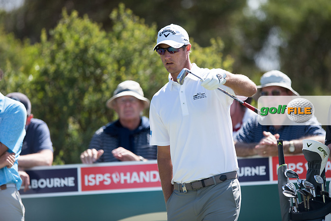 Nicolas Colsaerts (BEL) during the 2nd round of the ISPS Handa VIC Open, 13th Beech, Barwon Heads, Victoria, Australia. 08/02/2019.<br />