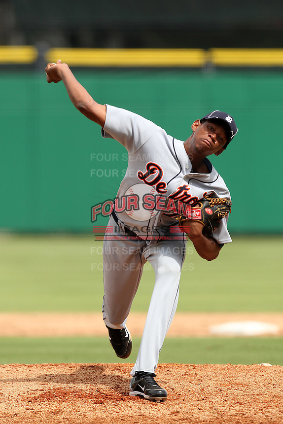 Detroit Tigers pitcher Brenny Paulino #79 during an Instructional League game against the Philadelphia Phillies at Bright House Networks Field on October 10, 2011 in Clearwater, Florida.  (Mike Janes/Four Seam Images)