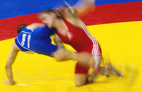 17 JUL 2010 - SHEFFIELD, GBR - Krasimir Krastanov (GBR) (blue) v Alexandru Chirtdeca (MDA) (red) - GB Cup  .(PHOTO (C) NIGEL FARROW)